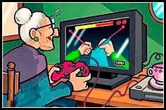 Бабуля за игрой