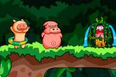 Бродилка двух свиней